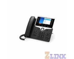 Cisco IP Phone CP-8861 with 5 Lines Open-SIP and WiFi/USB/Bluetooth (CP-8861-3PCC-K9)
