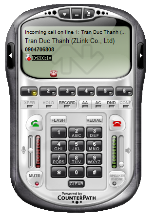 Zlink Caller ID show on Softphone