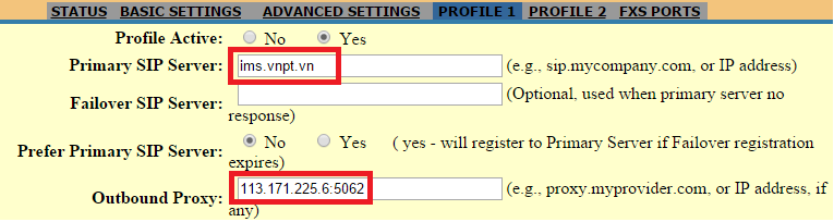 Hướng dẫn cài đặt tài khoản IMS VNPT vào tổng đài IP, điên thoại IP