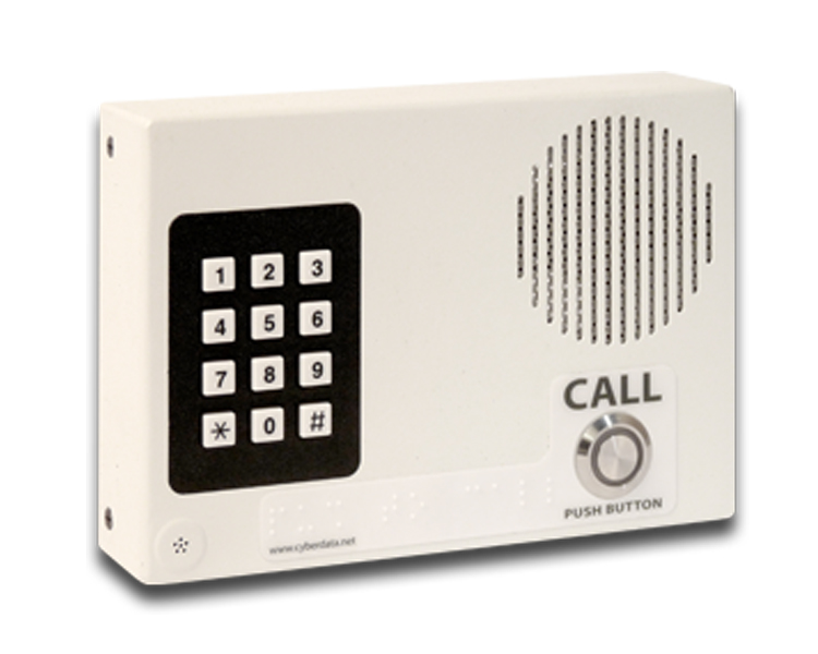 CyberData VoIP Intercom with Keypad (011113)